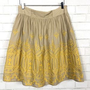 TINY {Anthro} Sun Stitched Embroidered Skirt L
